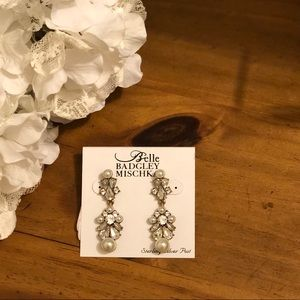 Badgley Mischka Jewel Earrings Sterling Silver